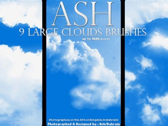 9 HQ Cloud Brushes Photoshop brush