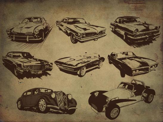 Free Retro Style Car Brushes Photoshop brush