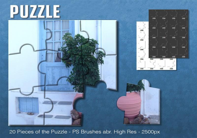 Puzzle Brushes Photoshop brush