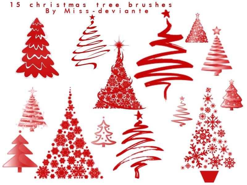 Christmas Tree Photoshop brush