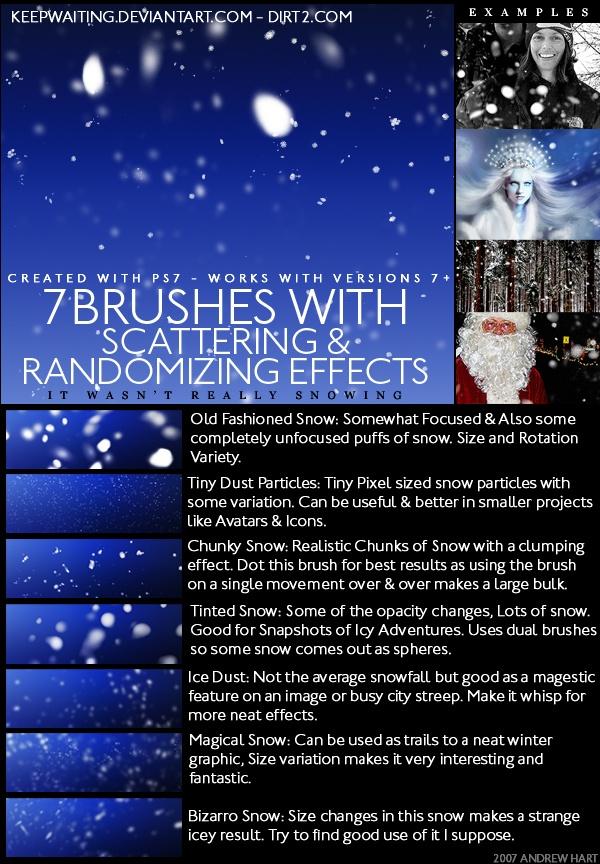 SNOW Brushes and IMG Pack Photoshop brush