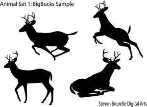 Animal Set 1: BigBucks Photoshop brush