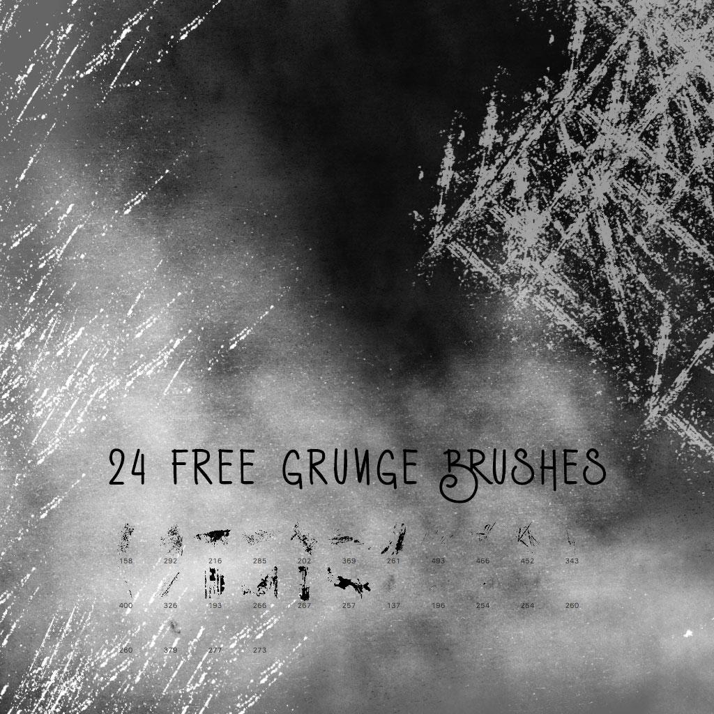 24 Free Grunge Brushes Photoshop brush