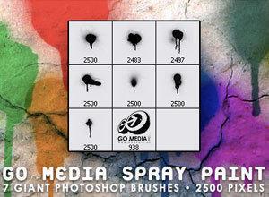 Go Media Spray Paint Photoshop brush