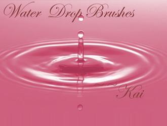 Water Drops Photoshop brush