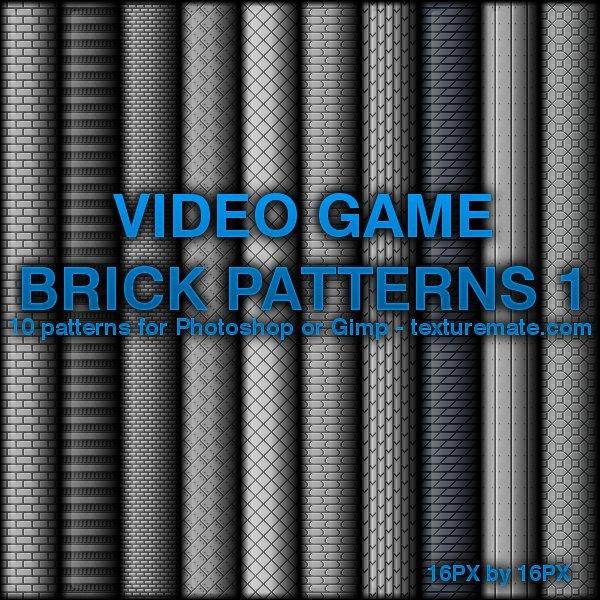Video Game Brick Patterns 1 Photoshop brush