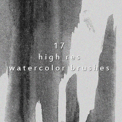 17 Creative High Resolution Watercolor Brushes Photoshop brush