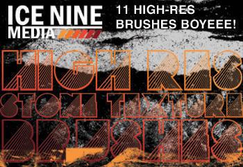 Ice Nine Media High-Res Stone Texture Brushes Photoshop brush