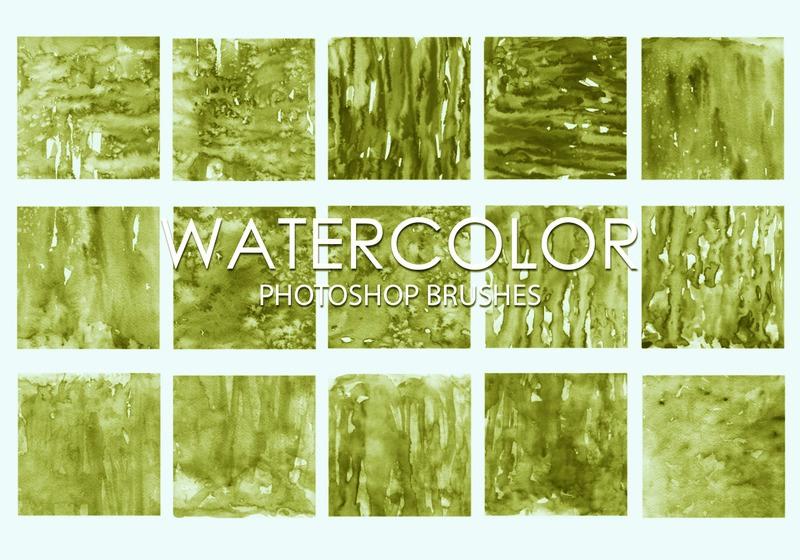 Free Watercolor Photoshop Brushes 3 Photoshop brush