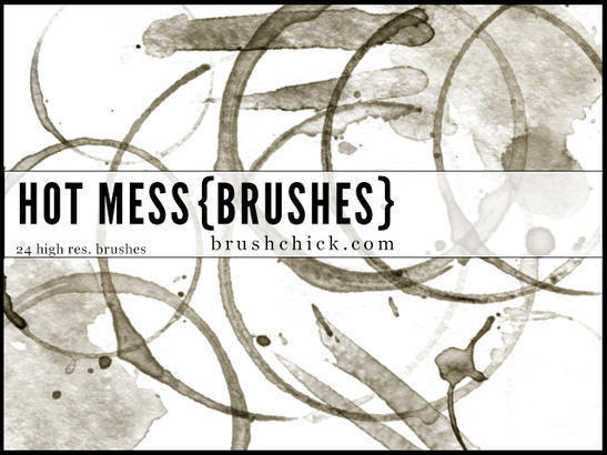Hot Mess - Coffee Brushes Photoshop brush