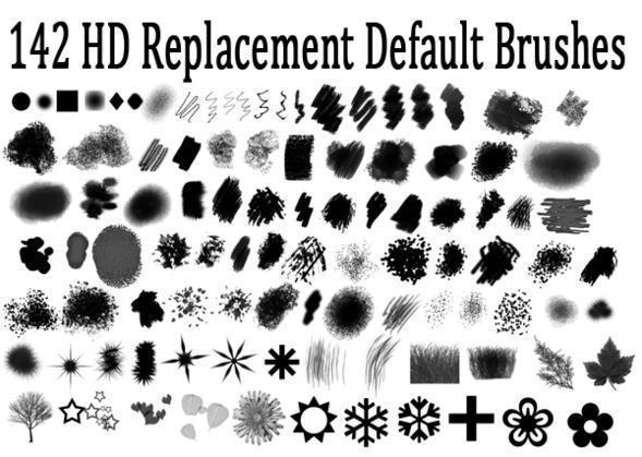 Hi Def Replacement Default Photoshop Brush Set Photoshop brush