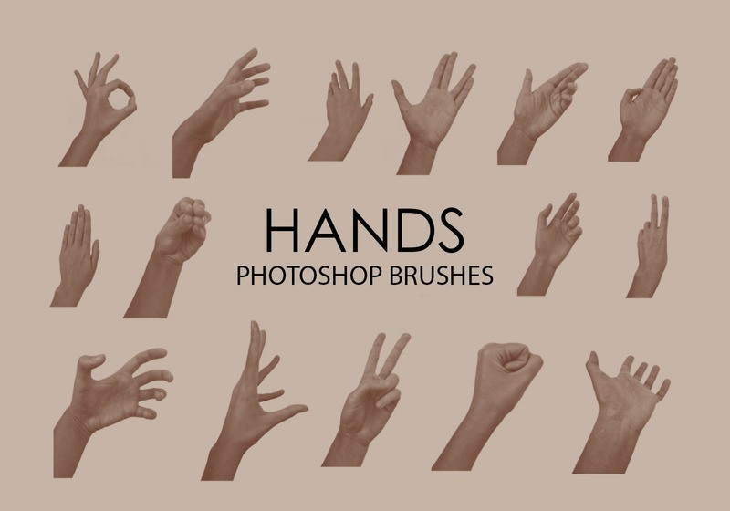 Free Hands Photoshop Brushes Photoshop brush