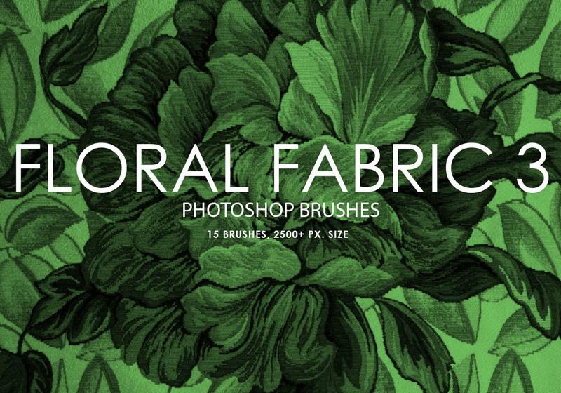 Free Floral Fabric Photoshop Brushes 3 Photoshop brush
