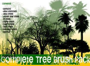 Complete Tree Brush Pack Photoshop brush