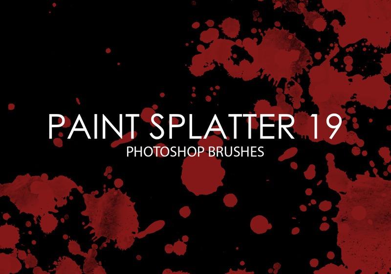 Free Paint Splatter Photoshop Brushes 19 Photoshop brush