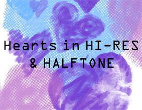 Hearts HI-RES & HalfTone Photoshop brush