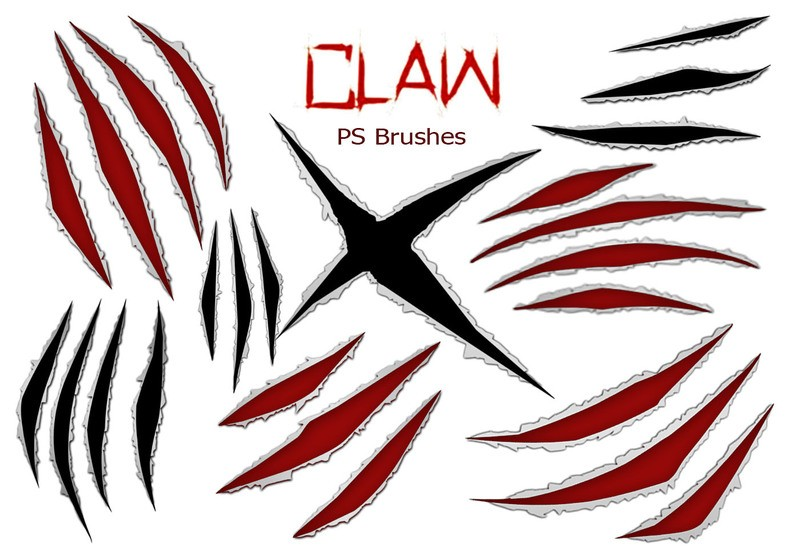 20 Claw Scratch PS Brushes ABR. vol.7 Photoshop brush