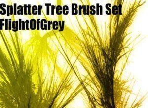 Splatter Tree Brushes Photoshop brush