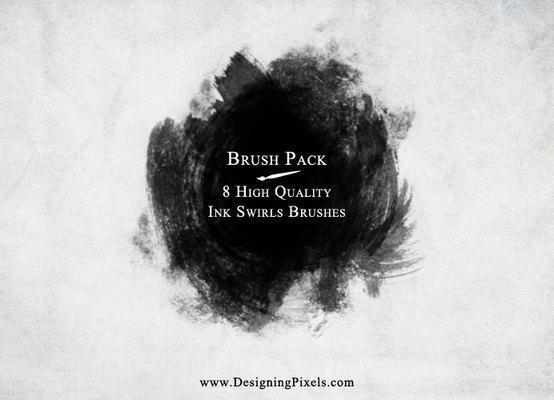 Ink Swirls Brush Pack Photoshop brush