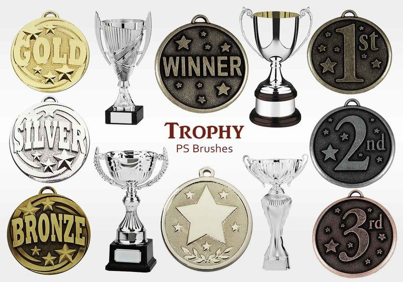 20 Trophy PS Brushes abr.vol.10 Photoshop brush