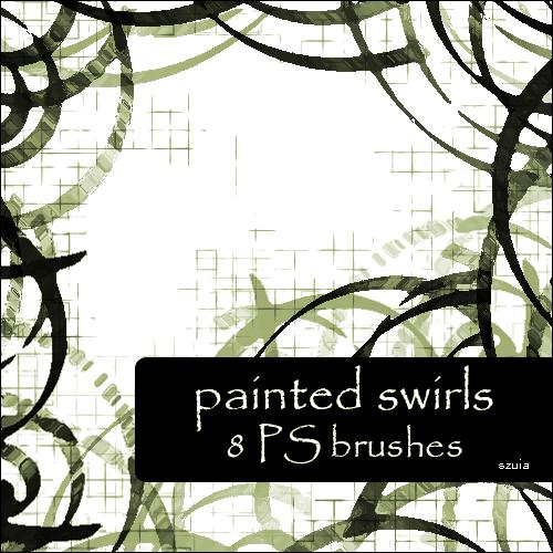 Painted Swirls Photoshop brush