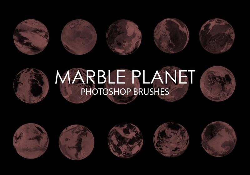 Free Marble Planet Photoshop Brushes Photoshop brush