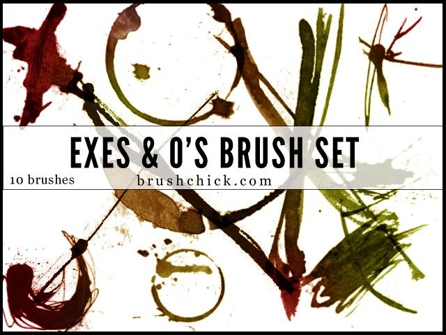 Exes & O's Photoshop brush