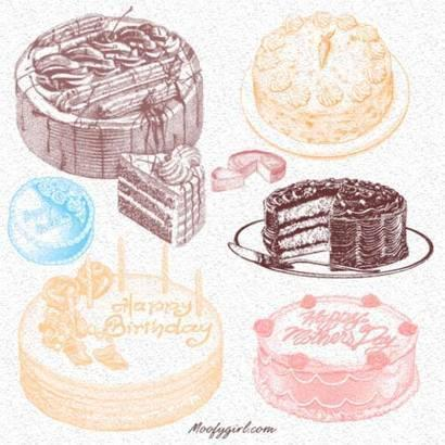 Delicious Bakery Cakes Brushes Photoshop brush