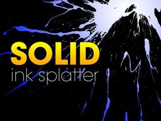 Solid Ink Splatter Photoshop brush