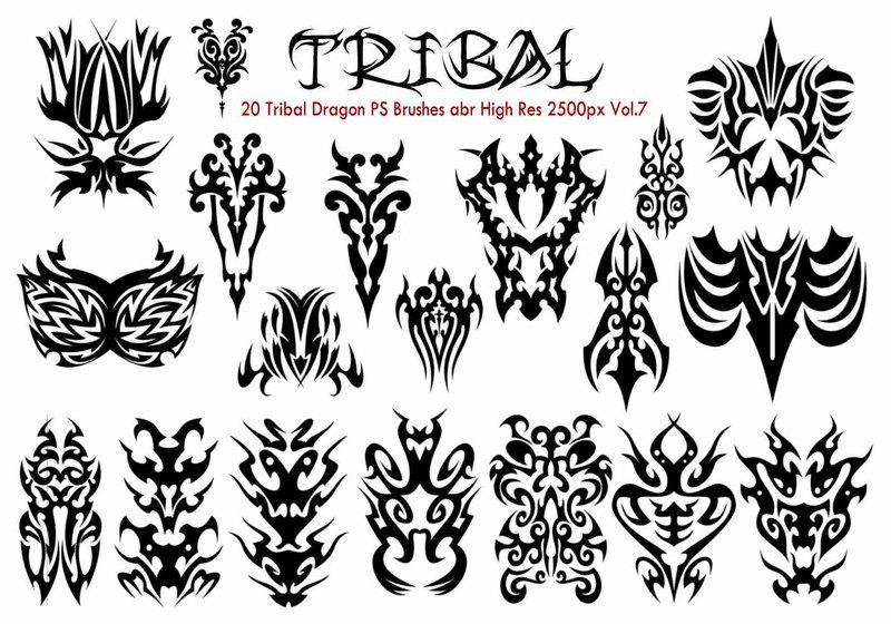 Tribal PS Brushes Vol.7 Photoshop brush