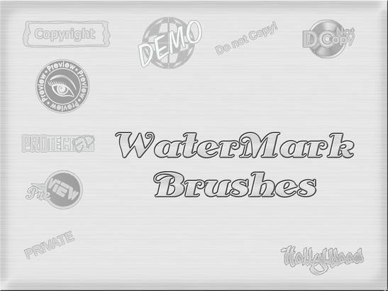 WaterMark Brushes Photoshop brush