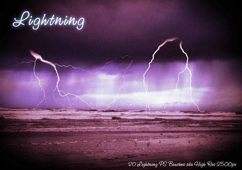 Lightning PS Brushes abr Photoshop brush
