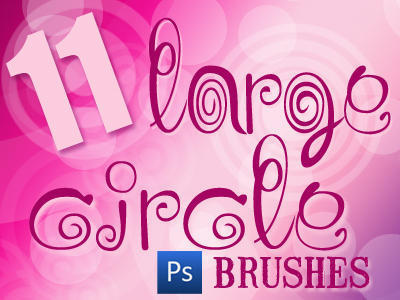 11 Large Circle Brushes Photoshop brush