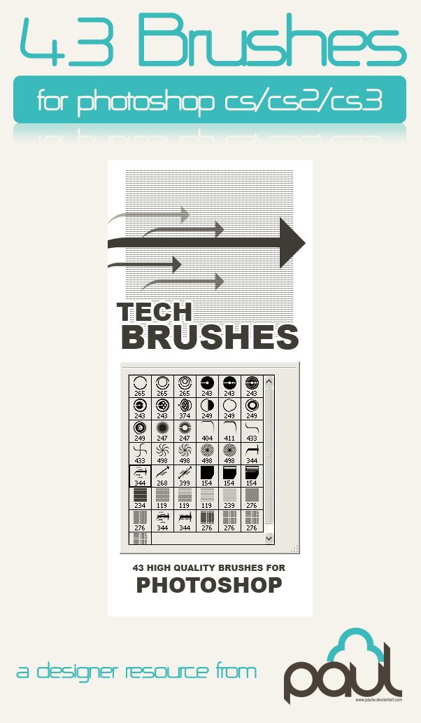 Tech Brush Mega Pack Photoshop brush