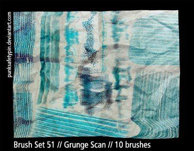 Grunge Scan Photoshop brush