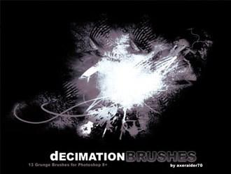 Decimation Brushes Photoshop brush