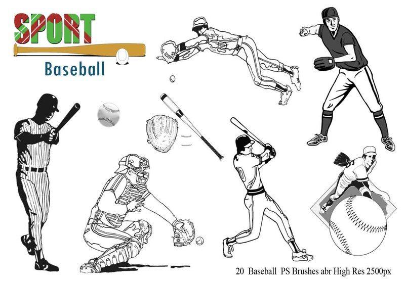 Baseball Ps Brushes abr Photoshop brush
