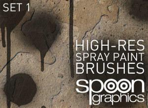 Hi-Res Spraypaint Photoshop Brushes-Set One Photoshop brush