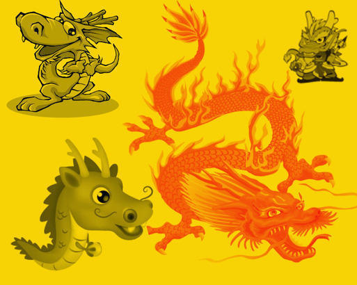 Chinese Dragon Photoshop brush