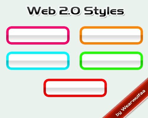Web 2.0 Styles Photoshop brush