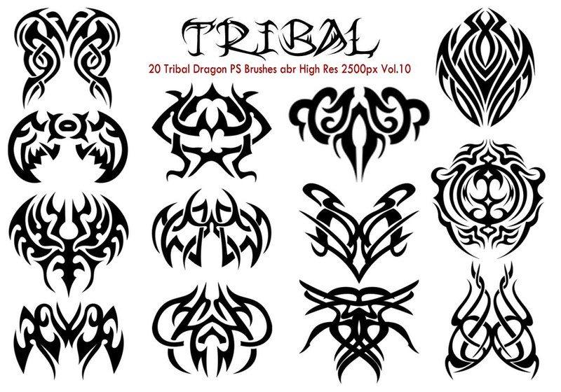 20 Tribal PS Brushes abr Vol.10 Photoshop brush