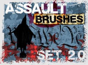 Assault Grunge Brush Set Photoshop brush
