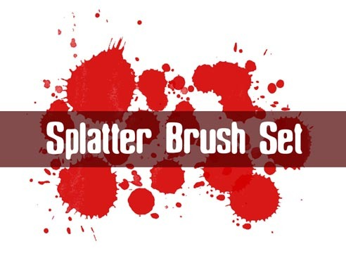 Splatter Brush Set Photoshop brush