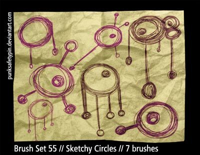 Sketchy Circles Photoshop brush