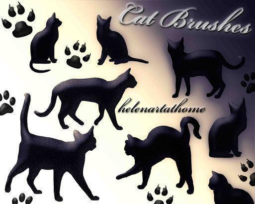 Cat Brushes Photoshop brush