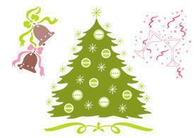 Free Christmas Brush Elements Photoshop brush