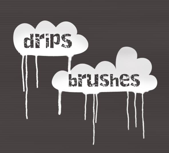 Drips Brush Set Photoshop brush