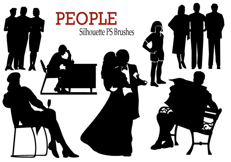 20 People Silhouette PS Brushes vol.2 Photoshop brush