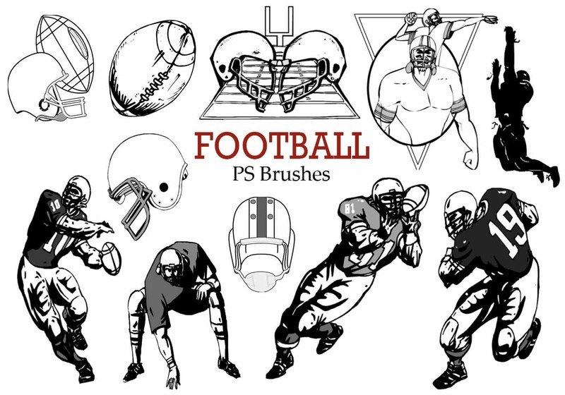 20 Football Ps Brushes abr.  Photoshop brush