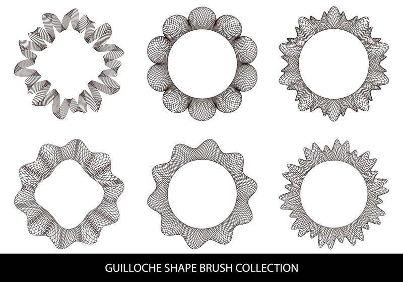 Guilloche Shape Brushes Photoshop brush